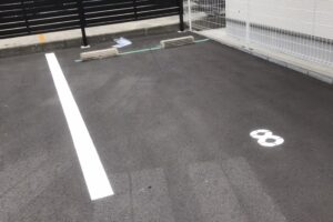 駐車場ライン塗装工事